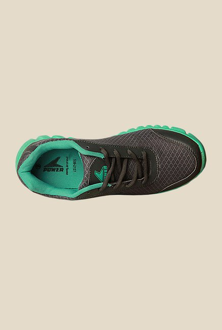 Power Fly Place Black & Green Running Shoes