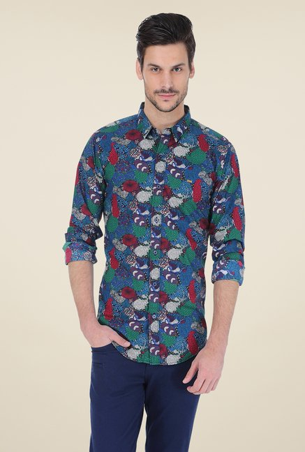 Basics Multicolor Printed Shirt
