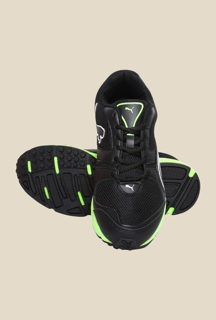 Puma Strike Fashion II DP Black & Green Gecko Running Shoes
