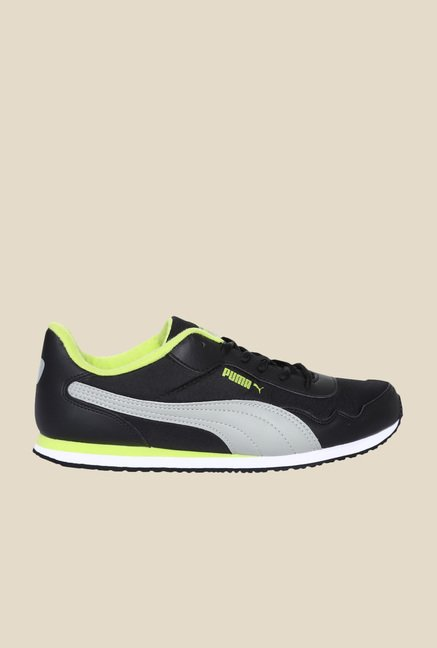 Puma Epoch DP Black & Lime Punch Sneakers