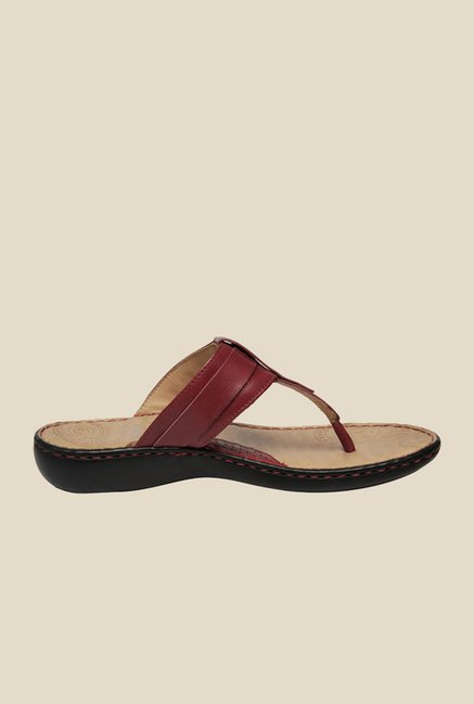 Scholl Rachel Brown T-Strap Sandals