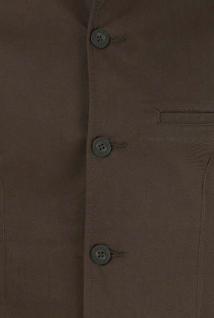 Basics Olive Solid Jacket