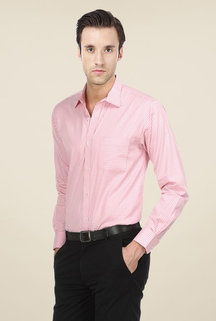 Basics Pink Checks Shirt