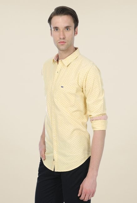 Basics Yellow Printed Shirt