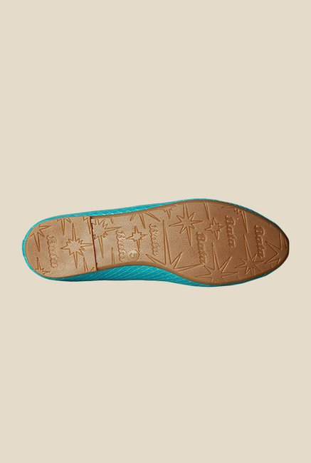 Bata Crocobow Blue Flat Ballets