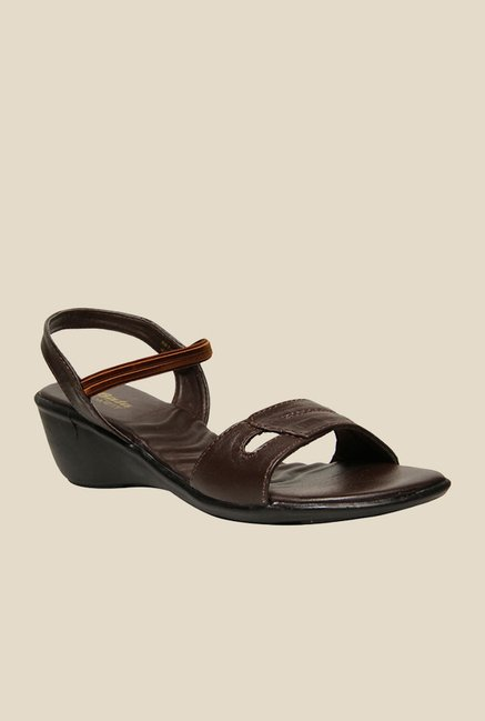 Bata Remedy Brown Sling Back Wedges