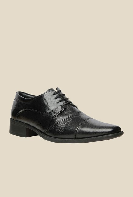 Hush Puppies HPO2 Flex Black Derby Shoes