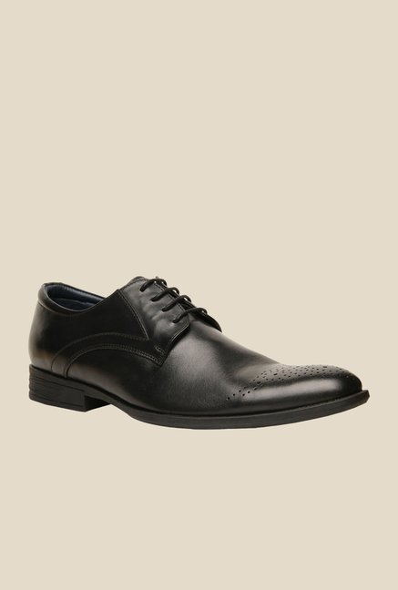 Hush Puppies London Black Derby Shoes