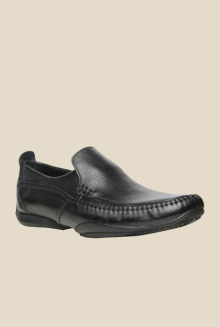 Hush Puppies Falcon Black Slip-Ons