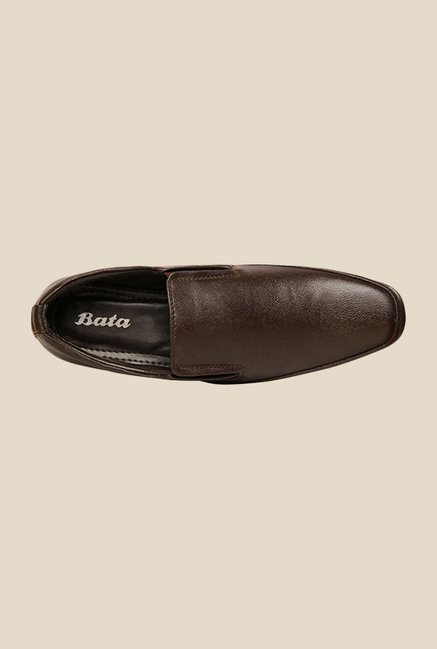 Bata Axel Brown Slip-Ons