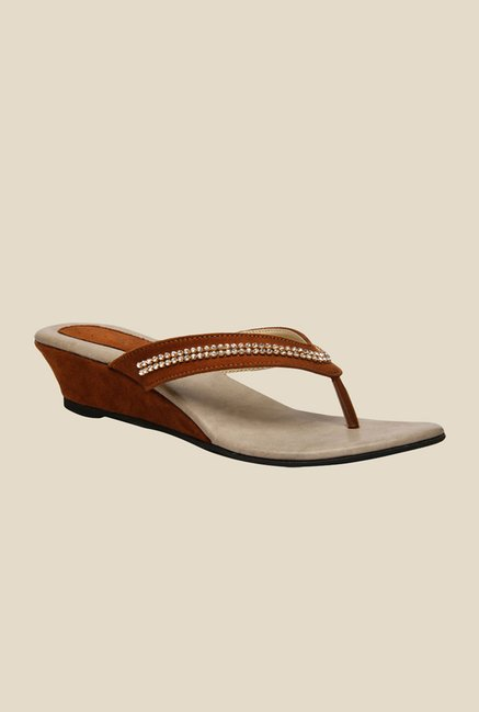 Footin Brown Thong Sandals