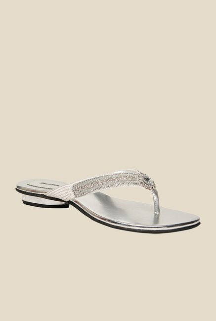Naturalizer E Comm WC Oct White & Silver Sandals