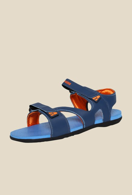 Puma Elego DP Blue Wing Teal Floater Sandals