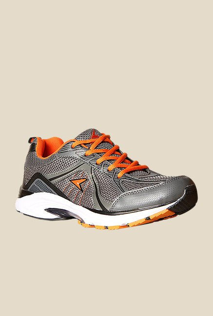 Power Alpha Silver & Orange Running Shoes