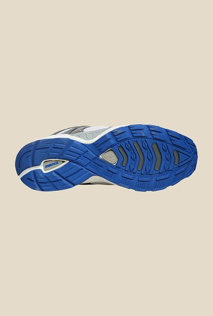 Power Alwin White & Blue Running Shoes