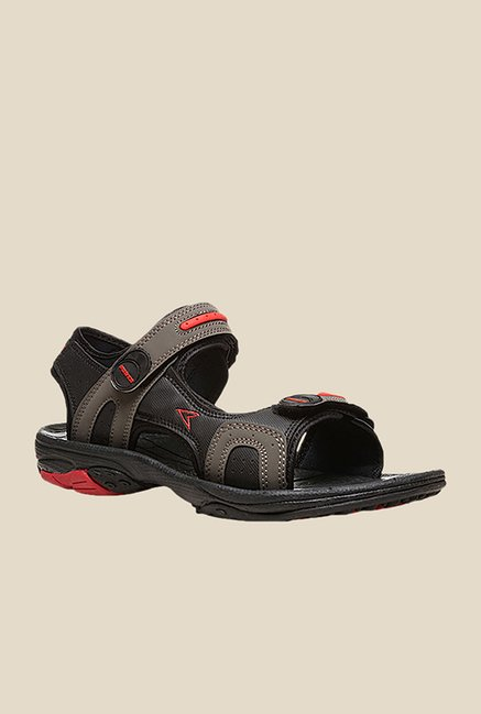 Power Austin Black & Olive Floater Sandals
