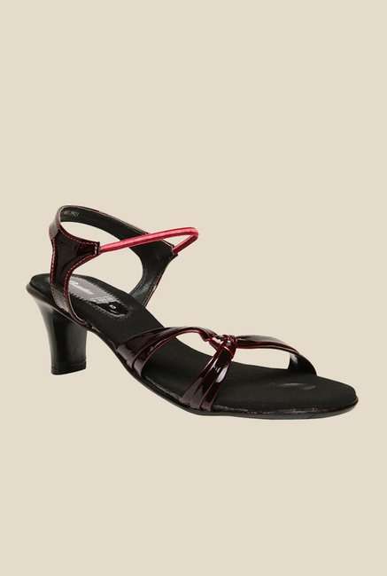 Bata Salsa Red & Black Sling Back Sandals