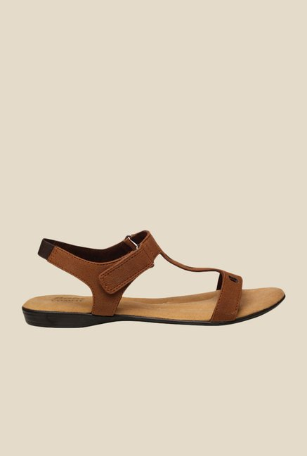 Bata Sophie Brown Ankle Strap Sandals