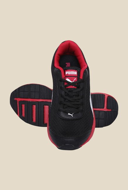 Puma Reef DP Black & Rose Red Running Shoes