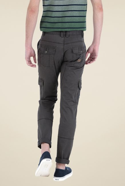 Basics Grey Solid Cargos