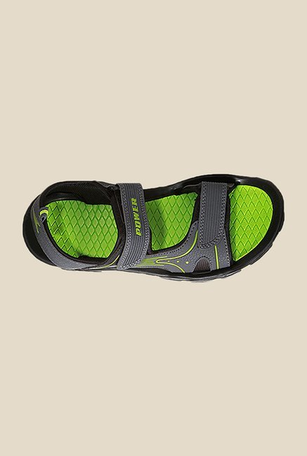 Power Strive Grey & Green Floater Sandals