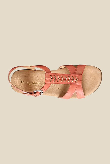 Naturalizer Weslie Pink Ankle Strap Sandals