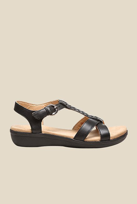 Naturalizer Weslie Black Ankle Strap Sandals