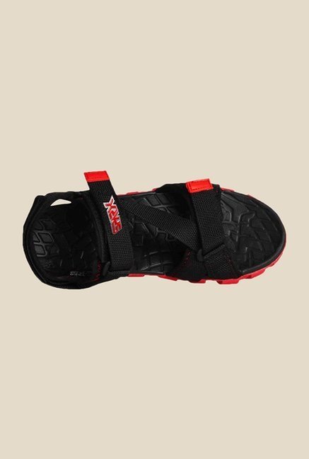 Bata F1 Black & Red Floater Sandals