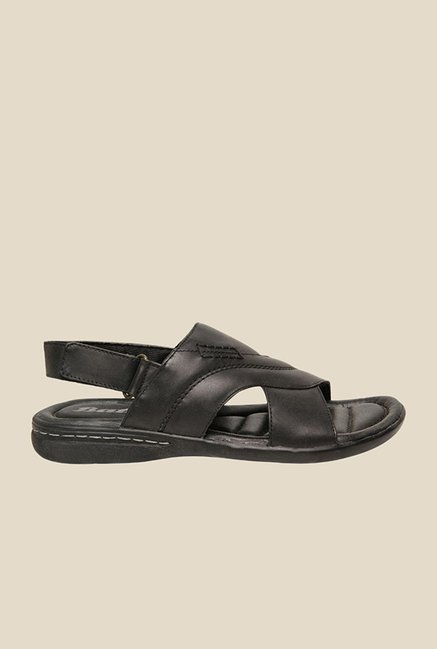 Bata Jaguar Black Back Strap Sandals