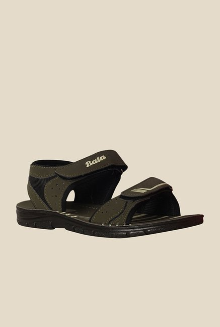 Bata Pulse Eco Olive Green Floater Sandals