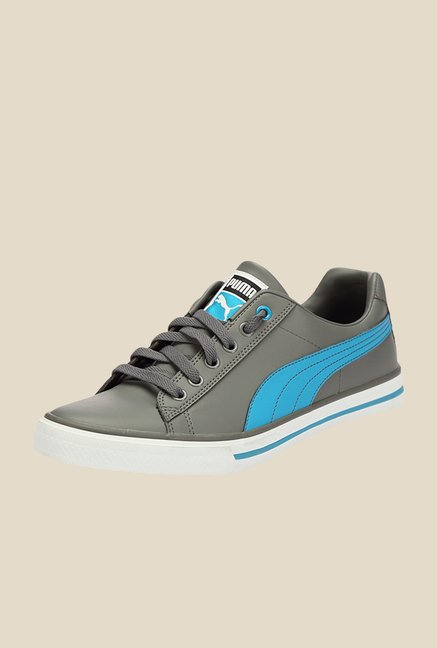 Puma Salz III DP Steel Grey & Blue Jewel Sneakers