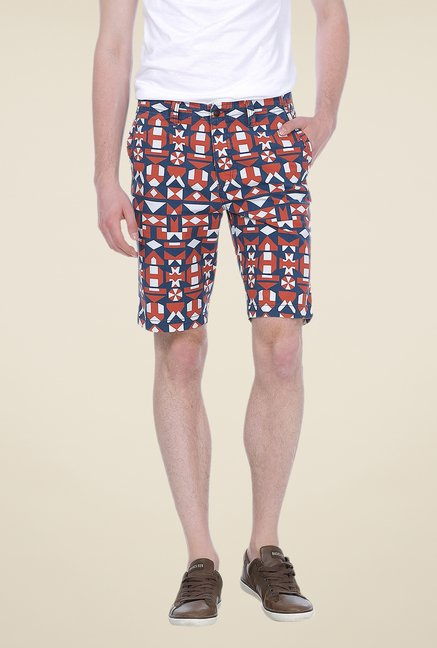 Basics Multicolor Printed Shorts