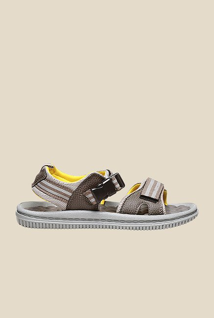 Bata Joy Brown & Grey Floater Sandals