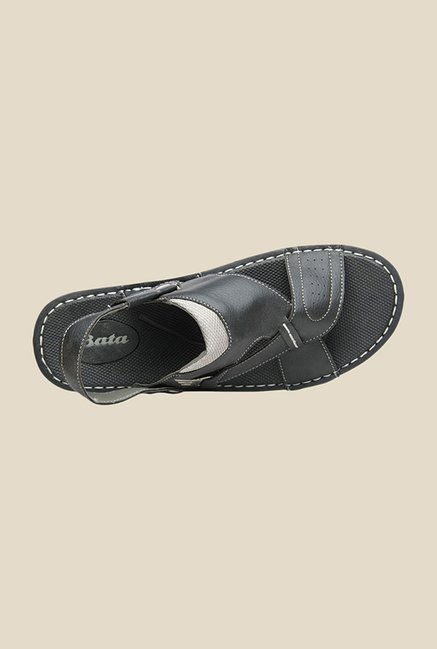 Bata Kripton Black Sling Back Sandals