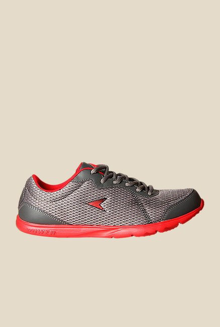 Power Edge Inb314 Grey Running Shoes