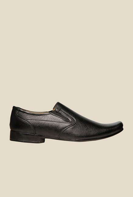 Footin Black Formal Slip-Ons