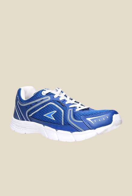 Power Lite C 213 Blue & White Running Shoes