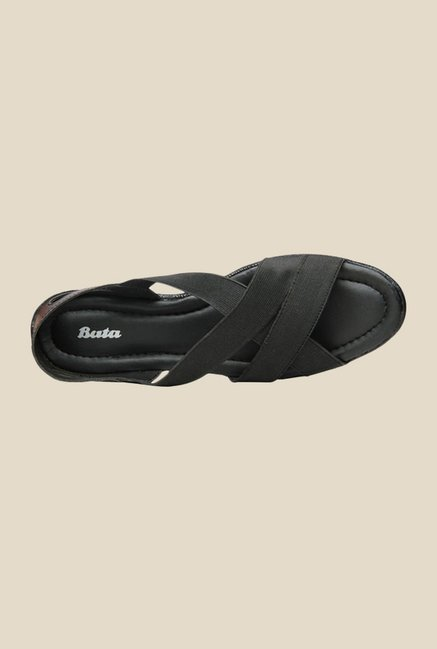 Bata Elastic Black Casual Sandals