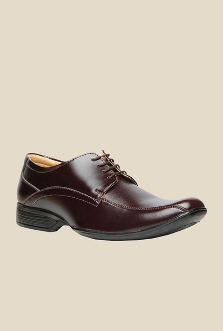 Bata N.lorna Brown Derby Shoes