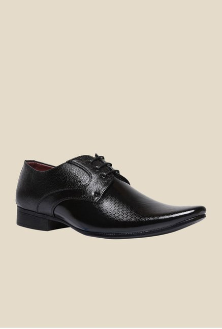 Bata Pierce Black Derby Shoes