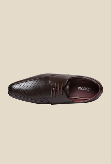 Bata Martin Brown Derby Shoes