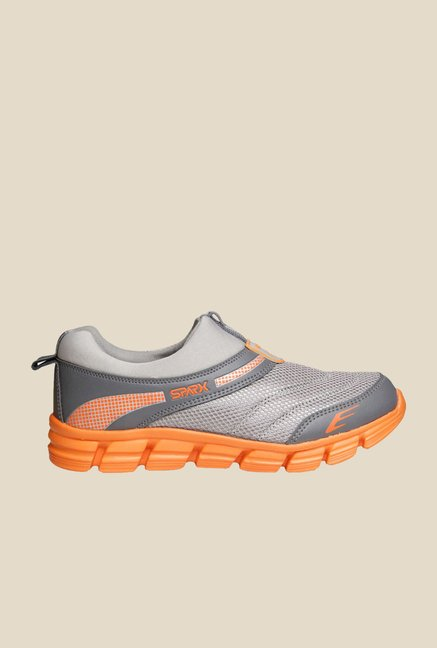 Sparx Click Grey & Orange Slip-Ons