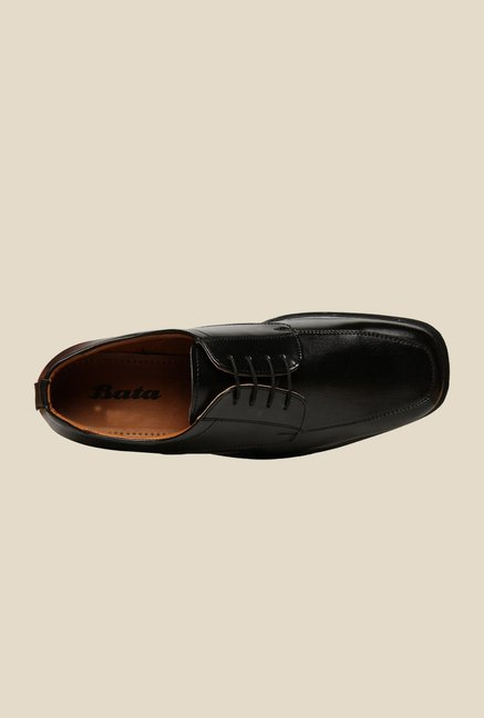Bata Scott Black Derby Shoes