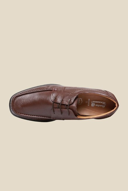 Bata Ceaser Brown Derby Shoes