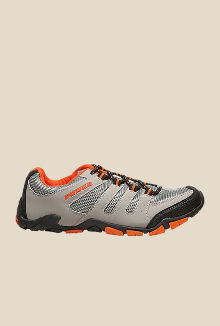 Power Men Do Grey & Orange Casual Shoes
