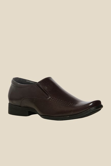 Bata Leo Brown Slip-Ons