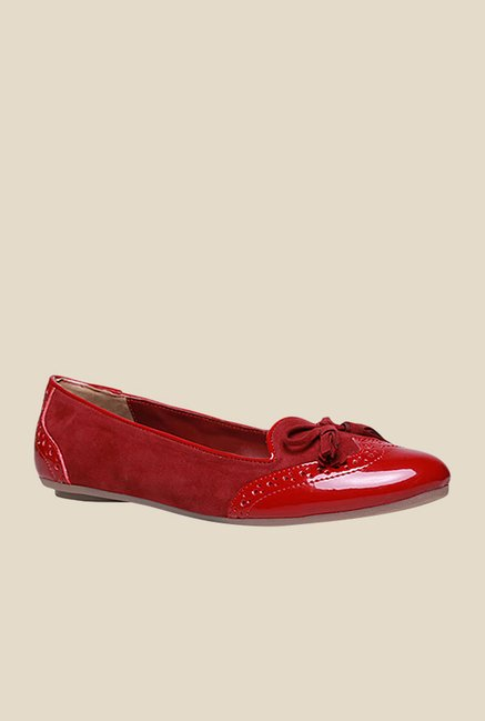 Bata Serayah Red Flat Ballets