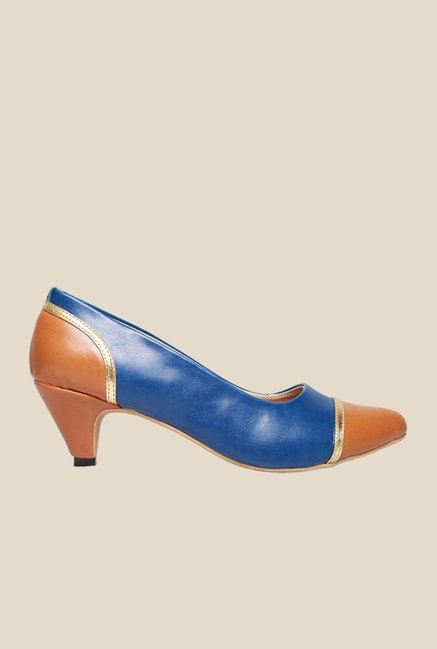 Bata Taylor Blue & Brown Pumps