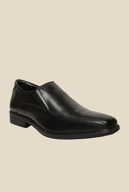Hush Puppies Mentor Black Slip-Ons