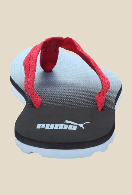 Puma Monica S DP Rose Red & Black Flip Flops